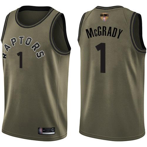 #1 Swingman Tracy Mcgrady Green Basketball Men's Jersey ...