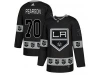 Adidas NHL Men's Tanner Pearson Black Authentic Jersey - #70 Los Angeles Kings Team Logo Fashion