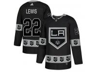 Adidas NHL Men's Trevor Lewis Black Authentic Jersey - #22 Los Angeles Kings Team Logo Fashion