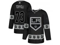Adidas NHL Men's Tyler Toffoli Black Authentic Jersey - #73 Los Angeles Kings Team Logo Fashion