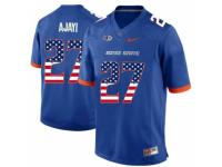 Men Boise State Broncos #27 Jay Ajayi Blue USA Flag College Football Jersey