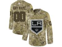 Men NHL Adidas Los Angeles Kings Customized Limited Camo Salute to Service Jersey