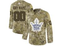 Men NHL Adidas Toronto Maple Leafs Customized Limited Camo Salute to Service Jersey