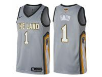 Men Nike Cleveland Cavaliers #1 Rodney Hood Swingman Green Salute to Service 2018 NBA Finals Bound NBA Jersey