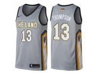 Men Nike Cleveland Cavaliers #13 Tristan Thompson  Gray 2018 NBA Finals Bound NBA Jersey - City Edition