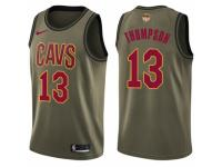 Men Nike Cleveland Cavaliers #13 Tristan Thompson Swingman Green Salute to Service 2018 NBA Finals Bound NBA Jersey