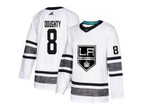 Men's Los Angeles Kings #8 Drew Doughty Adidas White Authentic 2019 All-Star NHL Jersey