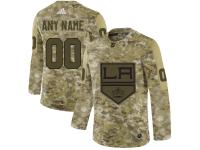 Men's Los Angeles Kings Adidas Customized Limited 2019 Camo Salute to Service Jersey