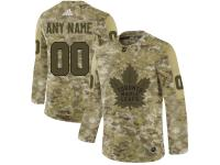 Men's Toronto Maple Leafs Adidas Customized Limited 2019 Camo Salute to Service Jersey