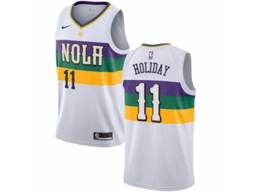 Men Nike New Orleans Pelicans #11 Jrue Holiday White NBA